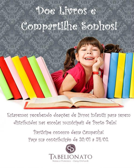 Doe Livros  e compartilhe sonhos